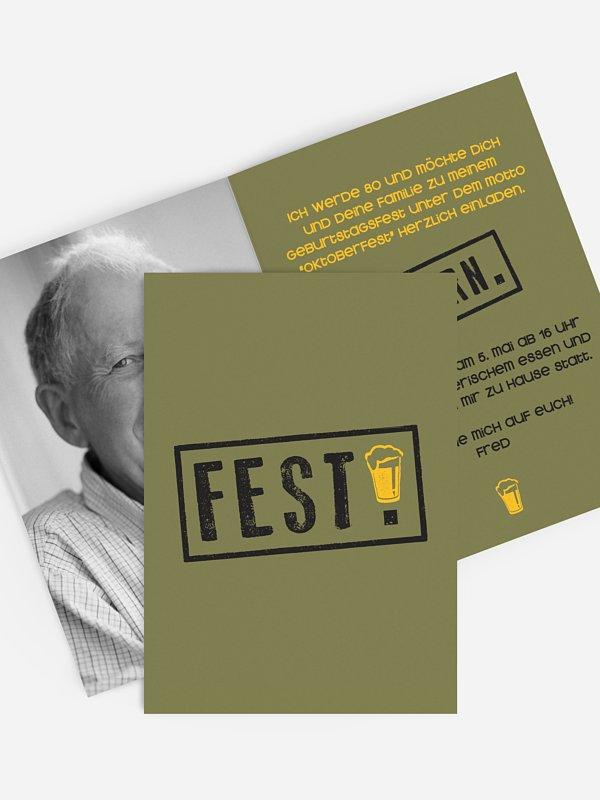 Einladung 80. Geburtstag Fest feiern