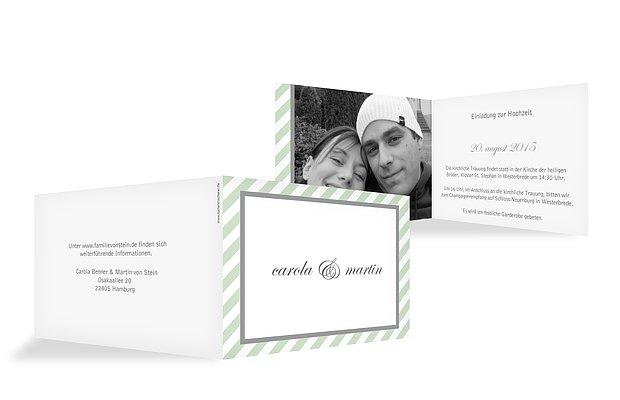 """Hochzeitseinladung """"Passepartout"""""""