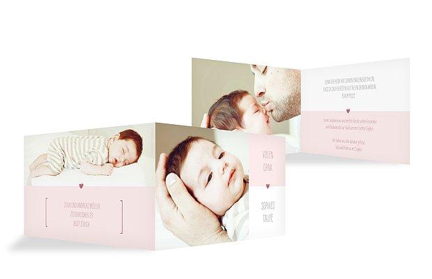 Dankeskarte Taufe New Baby