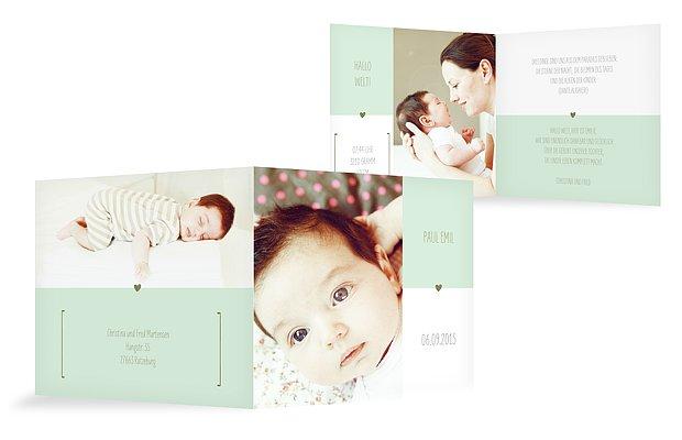 "Geburtskarte ""New Baby"""