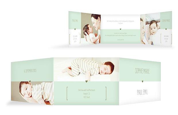 Zwillingskarte New Baby