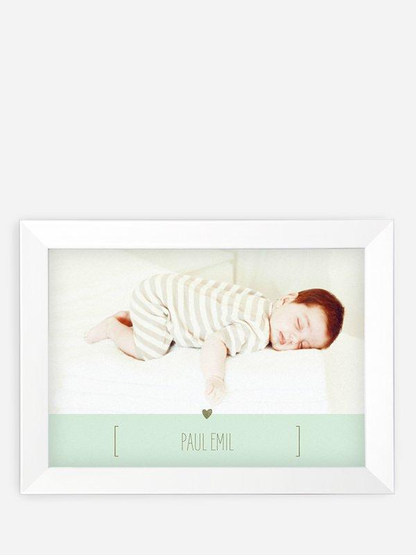 Wandbild Geburt New Baby