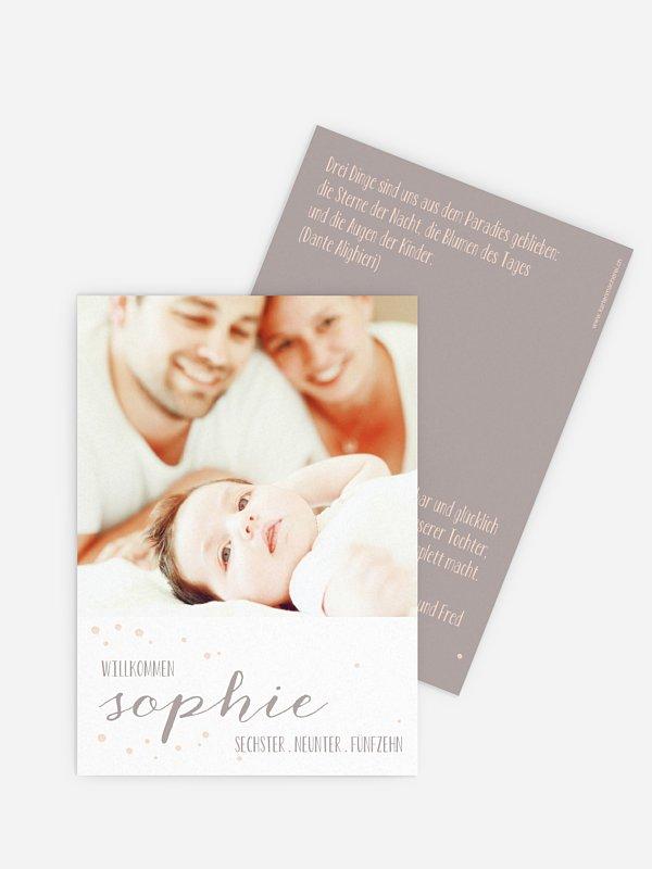 Geburtskarte Pünktchen