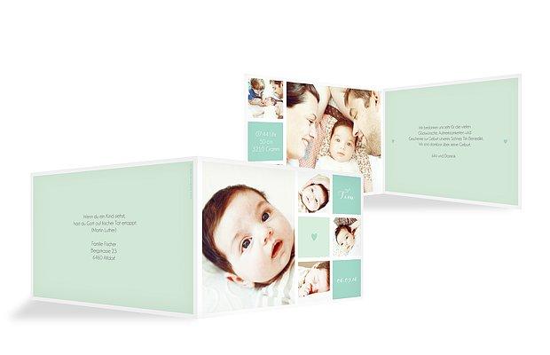 Geburtskarte Mit Herz