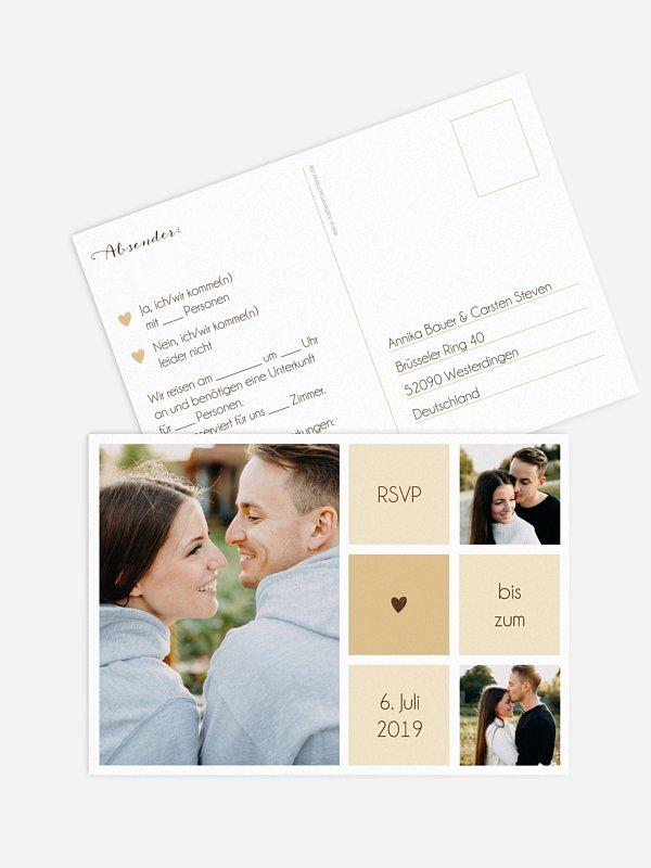 Antwortkarte Hochzeit Mit Herz