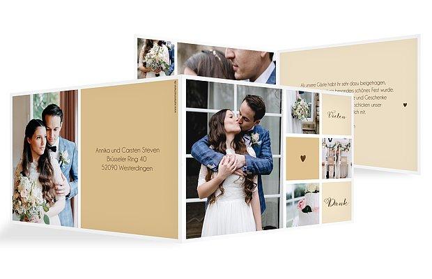 danksagungskarten zur hochzeit dankeskarten in 1 2 tagen. Black Bedroom Furniture Sets. Home Design Ideas