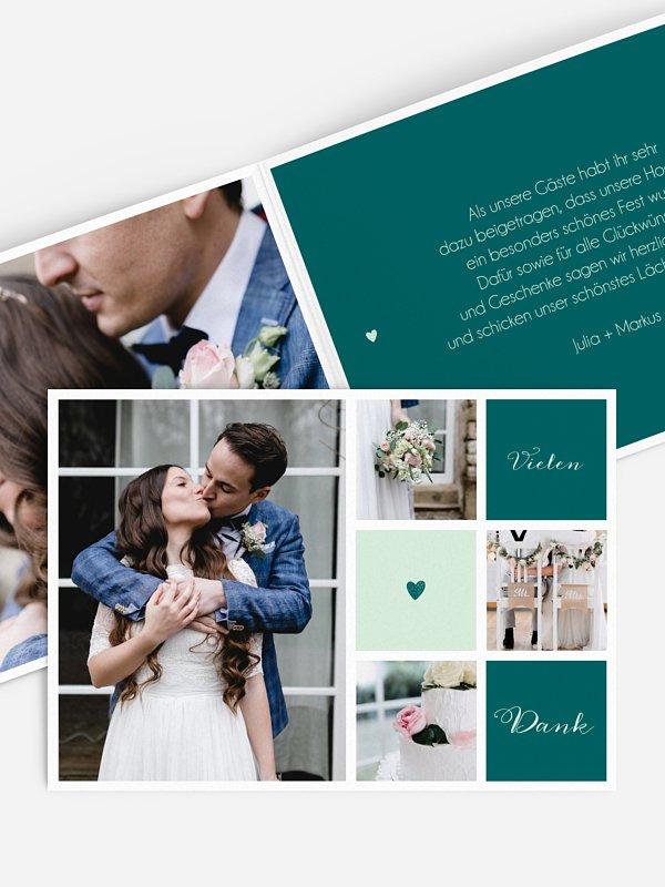 Dankeskarte Hochzeit Mit Herz