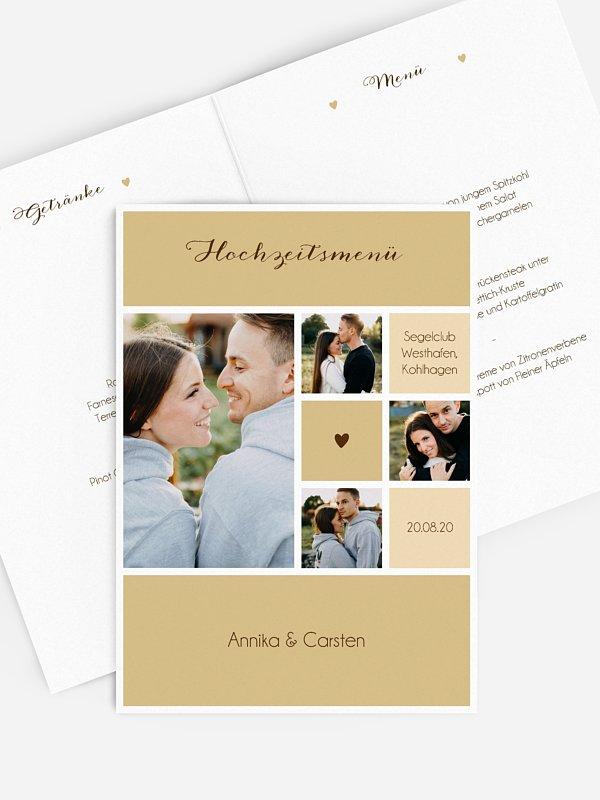 Menükarte Hochzeit Mit Herz