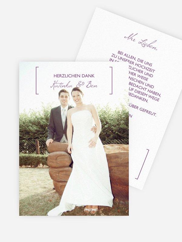 Dankeskarte Hochzeit Gemeinsam