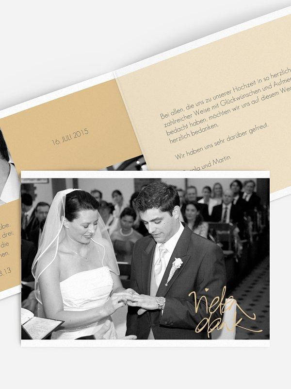 Dankeskarte Hochzeit Handschrift