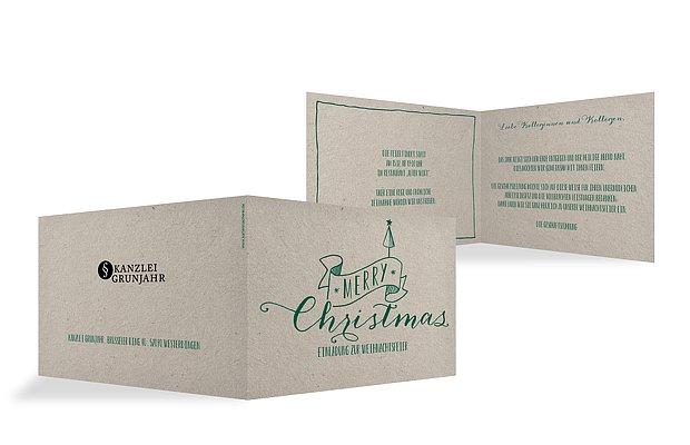 einladung zur weihnachtsfeier natural christmas. Black Bedroom Furniture Sets. Home Design Ideas