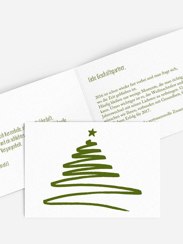 Geschäftliche Weihnachtskarte Christmas Art