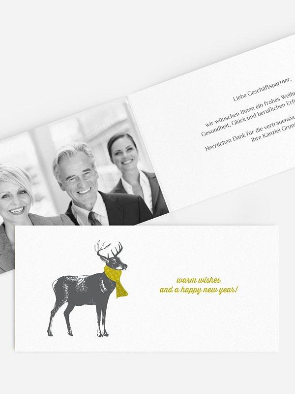 Geschäftliche Weihnachtskarte Warm Wishes