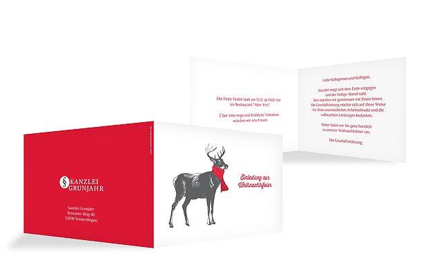 einladungen zur weihnachtsfeier – einladungskarten drucken, Einladung