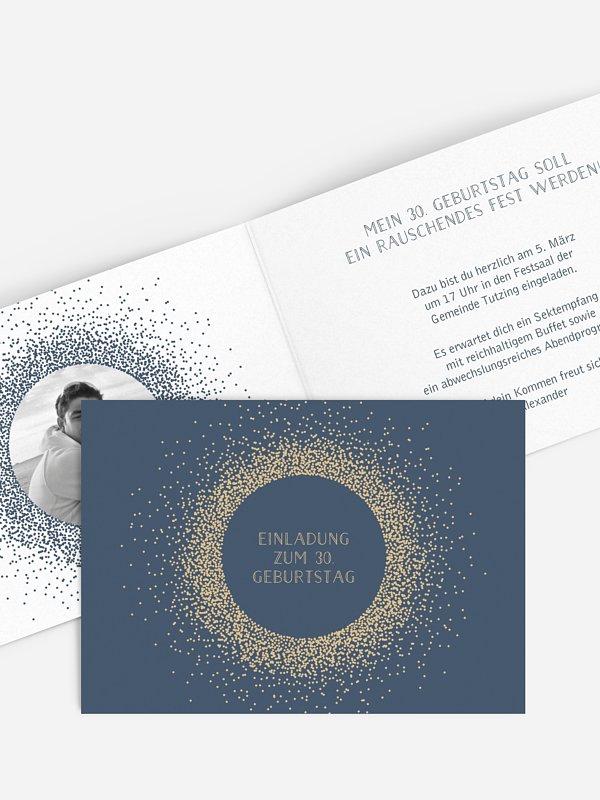 Einladung 30. Geburtstag Glanzvoll