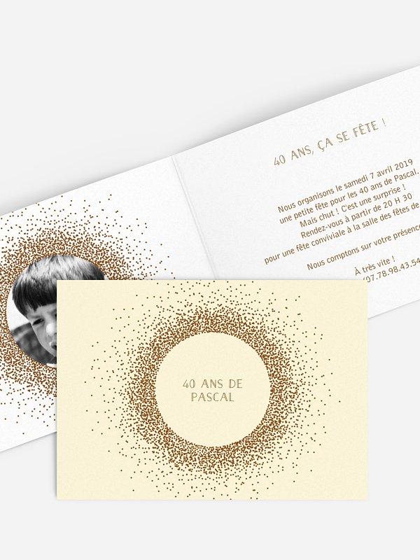 invitation anniversaire 40 Magique