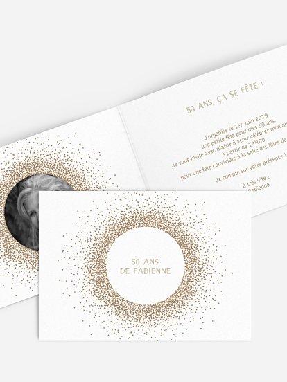 Carte Invitation Anniversaire 50 Ans Large Choix De Modeles