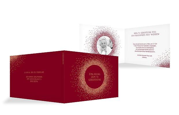 Einladung 70. Geburtstag Glanzvoll