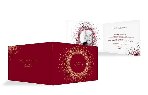 ... invitation anniversaire 70 Scintillant 4e7e3dd60c0d