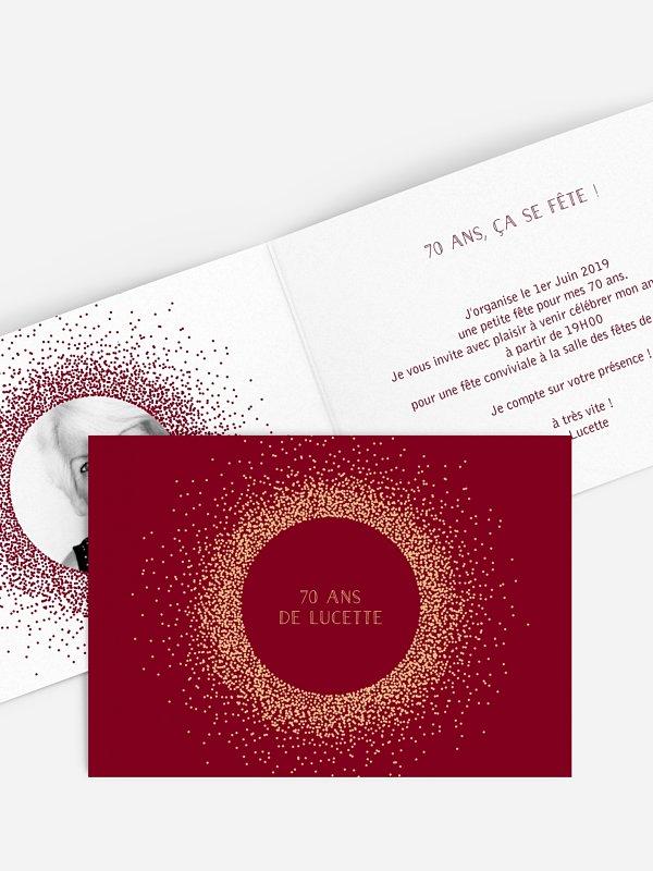invitation anniversaire 70 Magique