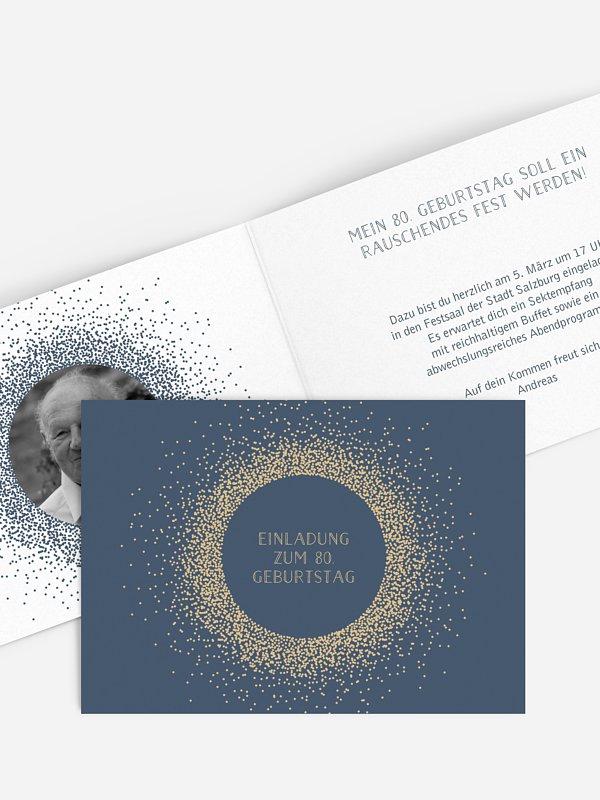 Einladung 80. Geburtstag Glanzvoll
