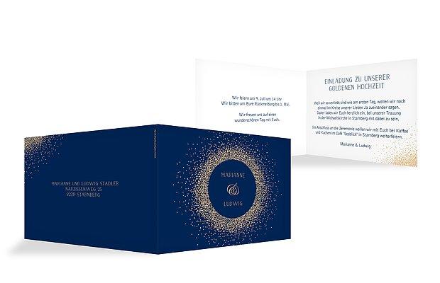 Einladung zur Goldenen Hochzeit Glanzvoll