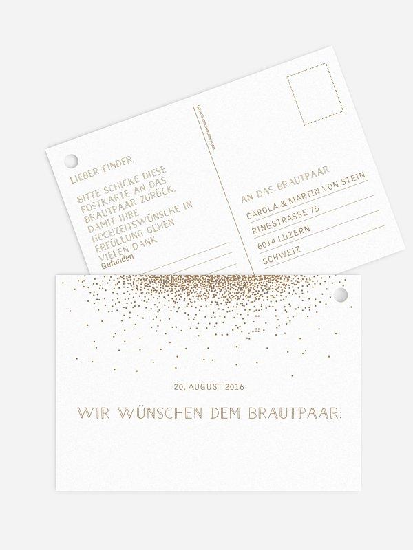 Ballonkarte Hochzeit Glanzvoll