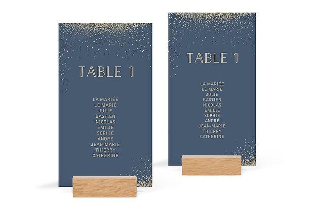Nom de table mariage Scintillant