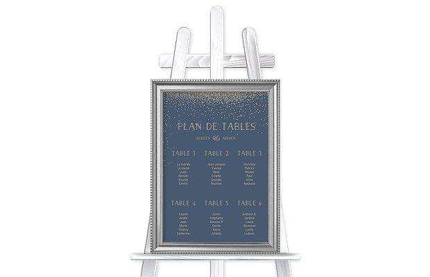 Poster plan de table mariage Scintillant