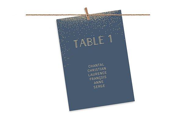 Cartons plan de table mariage Scintillant