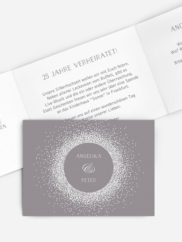 Einladung zur Silberhochzeit Glanzvoll