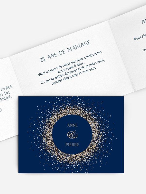 Invitation Anniversaire Mariage 25 Ans Scintillant