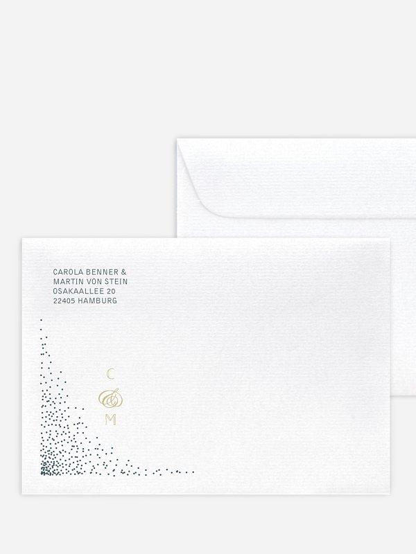Briefumschlag mit Motiv Glanzvoll
