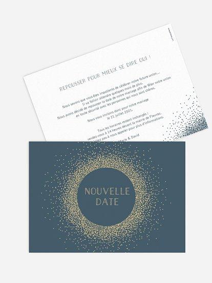 Carte mariage reporté Scintillant