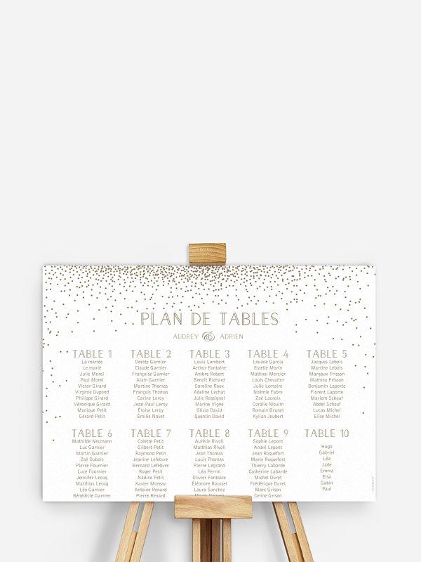 Plan de tables Scintillant