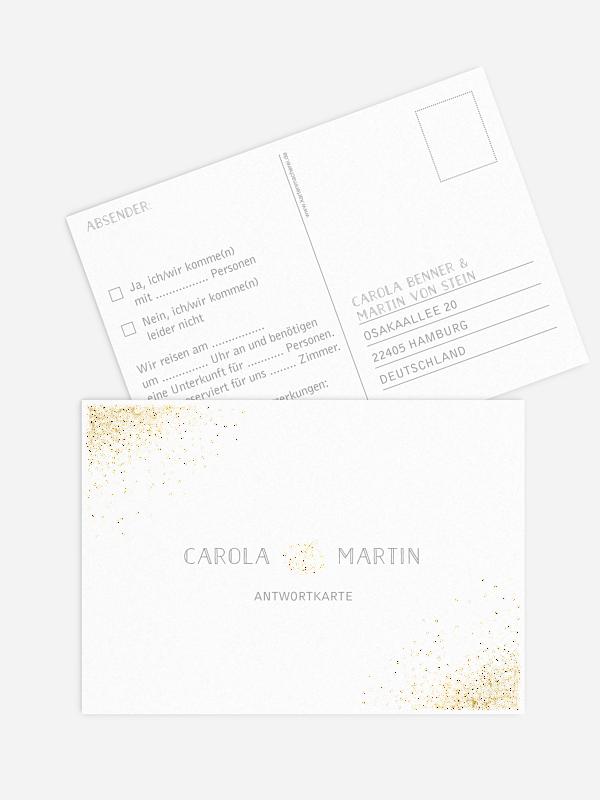Antwortkarte Hochzeit Glanzvoll Premium