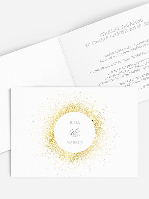 Hochzeitseinladung Glanzvoll Premium