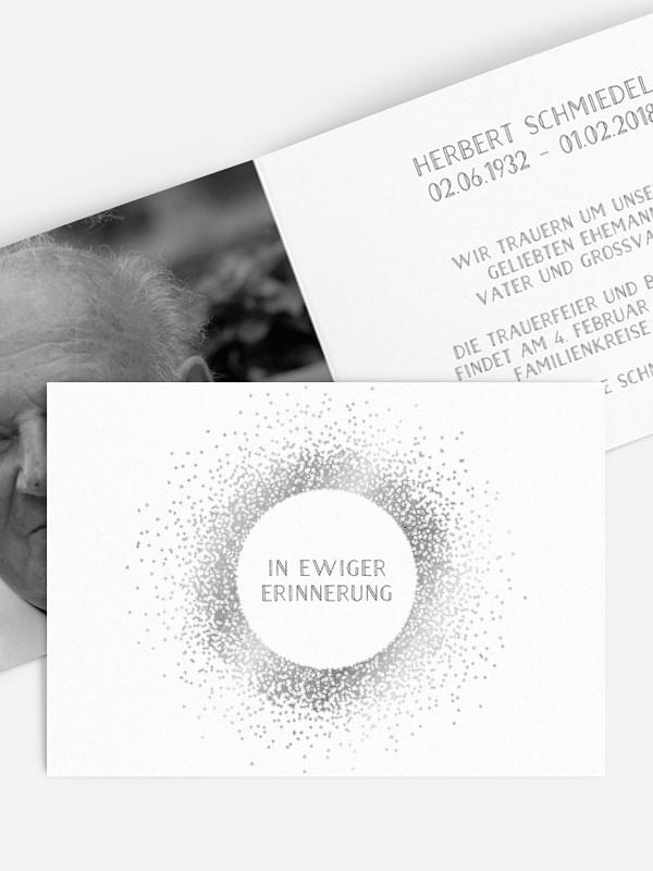 Trauerkarte Glanzvoll Premium