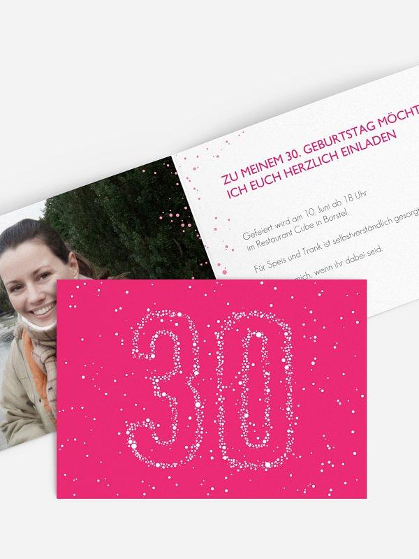 Einladung 30. Geburtstag Sternenzahl