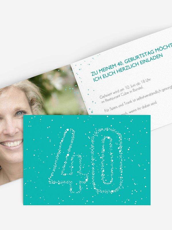 Einladung 40. Geburtstag Sternenzahl