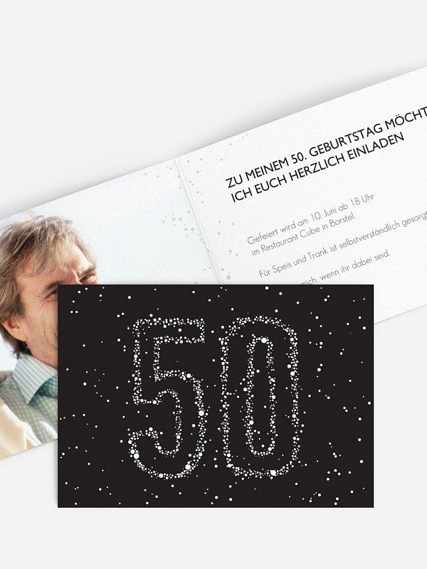 Einladung 50. Geburtstag Sternenzahl
