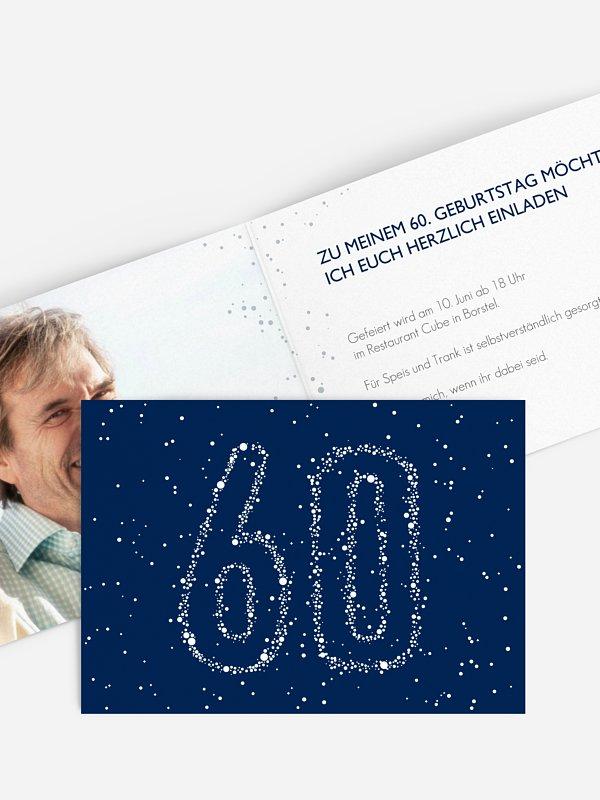 Einladung 60. Geburtstag Sternenzahl