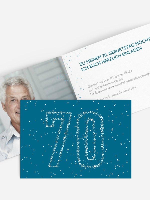 Einladung 70. Geburtstag Sternenzahl