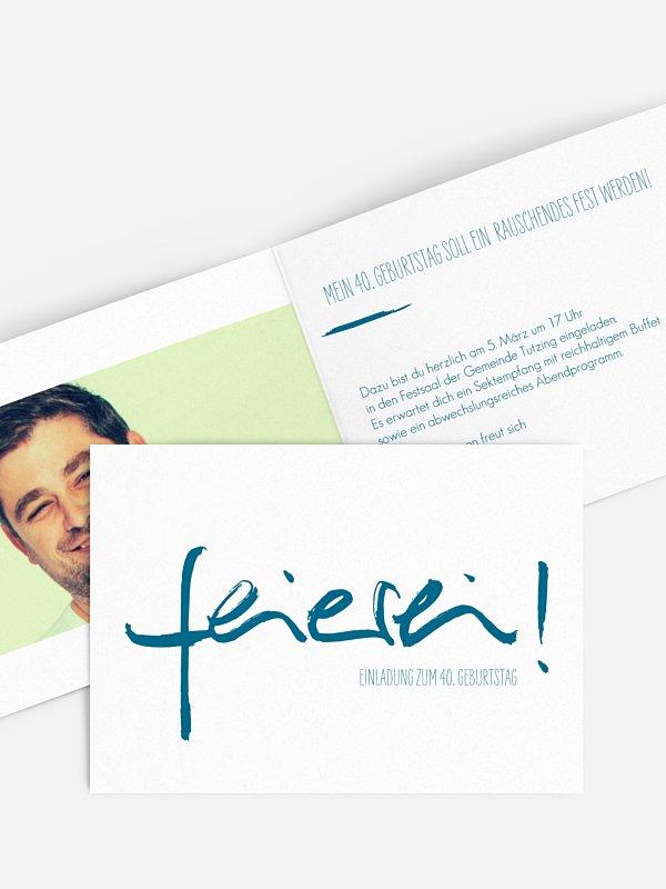 Einladung 40. Geburtstag Feierei