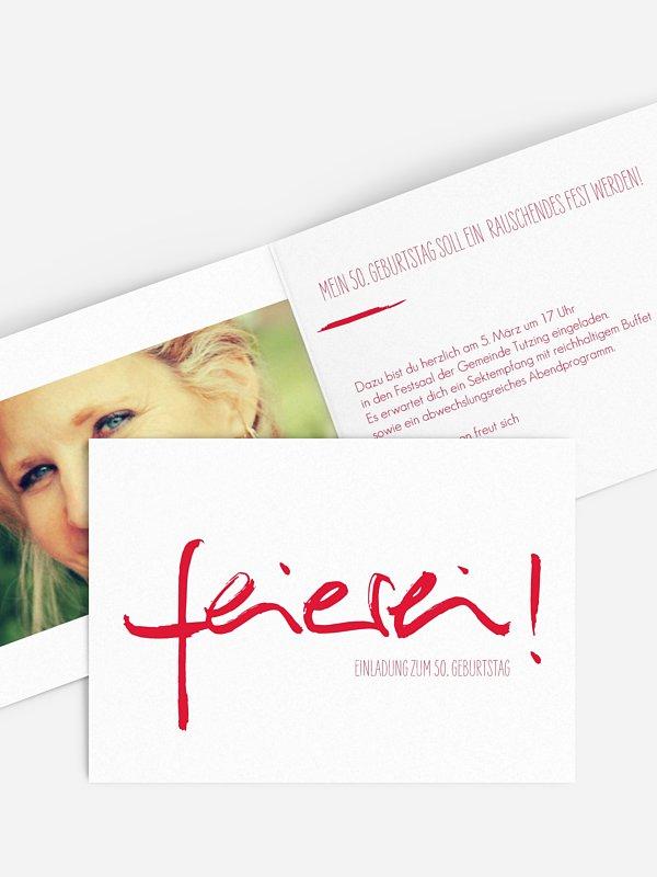 Einladung 50. Geburtstag Feierei