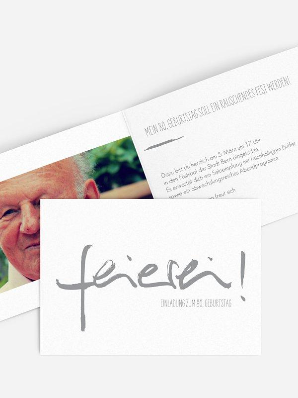 Einladung 80. Geburtstag Feierei