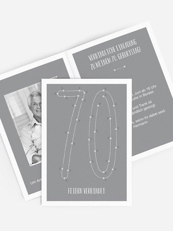 Einladung 70. Geburtstag Feiern verbindet