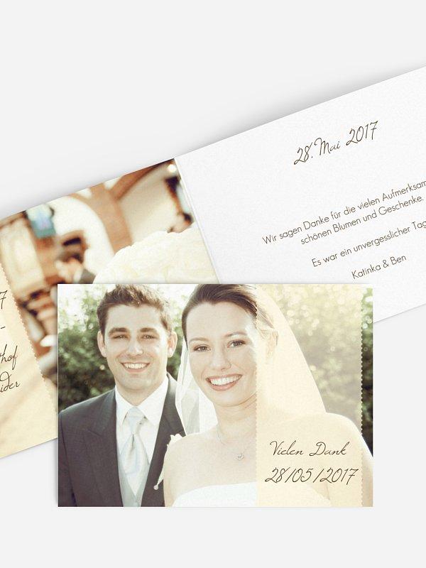 Dankeskarte Hochzeit Blickfang