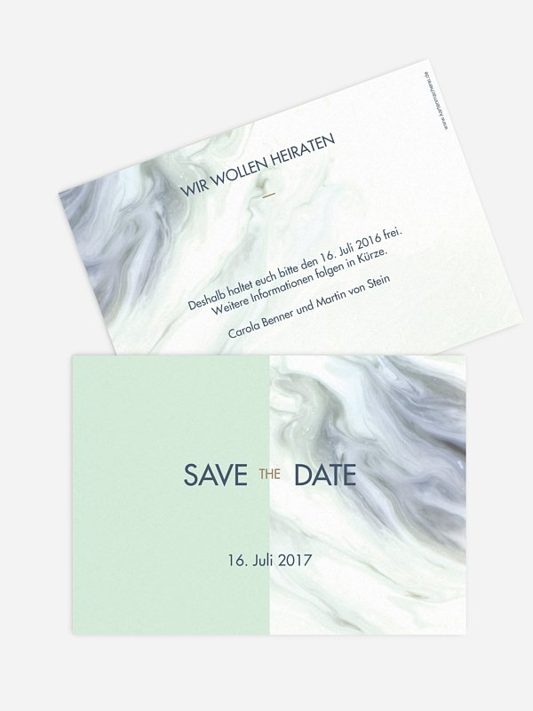 Save-the-Date Karte Marble Heart