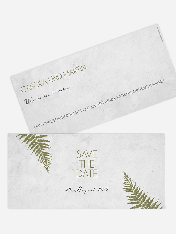 Save-the-Date Karte Industrial Art